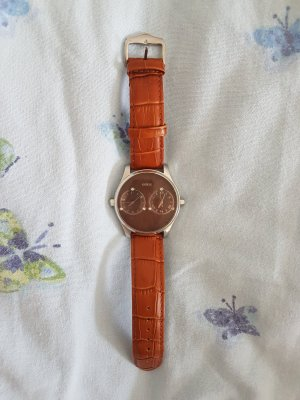 Guess  Uhr mit Lederarmband unisex