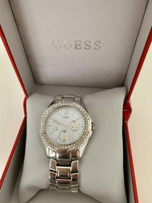 GUESS Uhr Silber mit Steinen