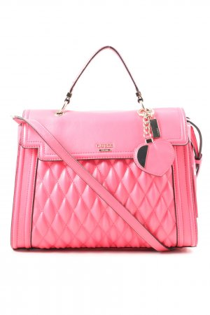 Guess Umhängetasche pink Steppmuster Elegant