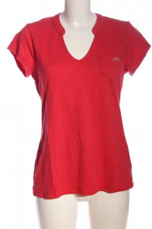 Guess V-Neck Shirt red casual look