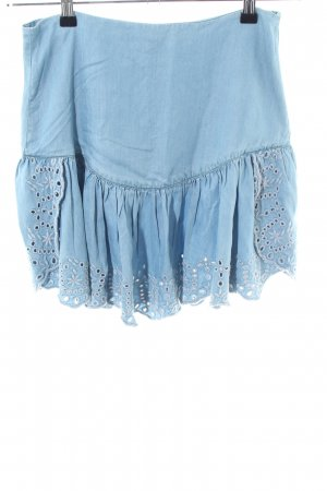 Guess Volantrock blau Casual-Look