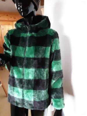 Guess Chaqueta de piel sintética negro-verde