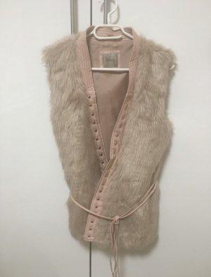 Guess Fur vest rose-gold-coloured