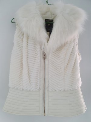 Guess Fur vest natural white