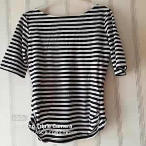 Guess Camisa recortada blanco-negro