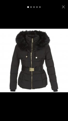 Guess Chaqueta de invierno negro-color oro