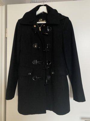 Guess Wełniany płaszcz czarny
