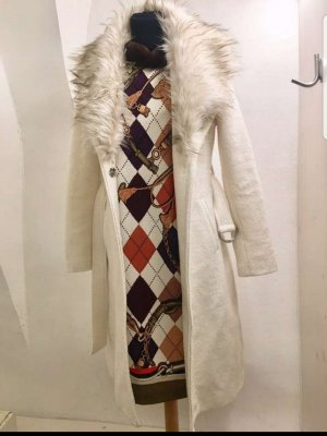Guess Cappotto in lana bianco sporco