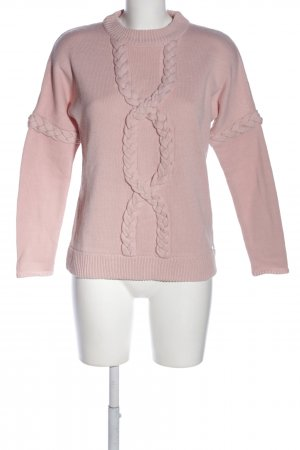 Guess Zopfpullover pink Zopfmuster Casual-Look