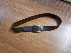 Tom Tailor Cinturón de cuero marrón grisáceo