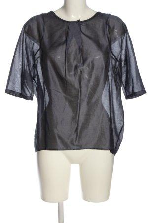 Guglielminotti Transparenz-Bluse schwarz Casual-Look