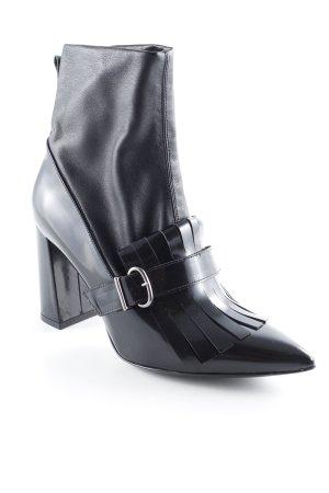 Guglielmo Rotta High Heel Stiefel schwarz-silberfarben Elegant