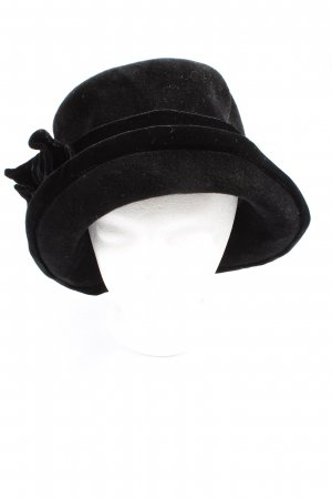 Guido Boehler Cappello a falde larghe nero stile casual