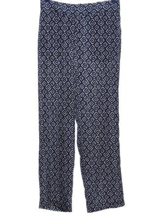 Guido Maria Kretschmer Baggy Pants blau-weiß Allover-Druck Casual-Look