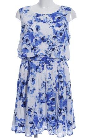 Guido Maria Kretschmer Blusenkleid weiß-blau Allover-Druck Casual-Look