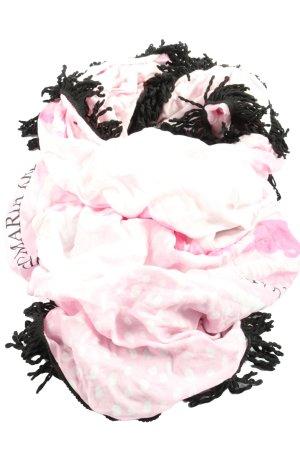Guido Maria Kretschmer Sciarpa con frange rosa motivo astratto stile casual