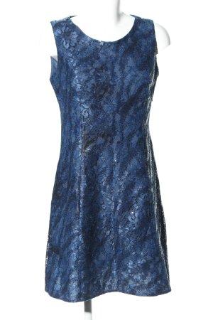Guido Maria Kretschmer Pailettenkleid blau Blumenmuster Elegant