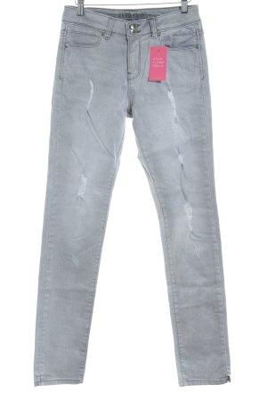 Guido Maria Kretschmer Skinny Jeans hellgrau Casual-Look