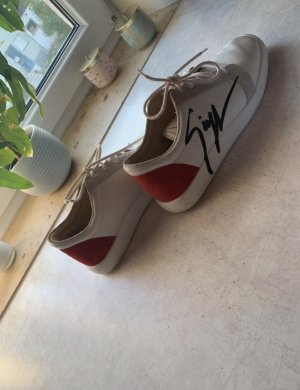 Guiseppe Zanotti Da Damenschuhe Leder Limited Edition weiß Sneakers 41