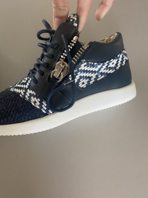 Guiseppe Zanotti Schuhe Sneaker Leder blau 37