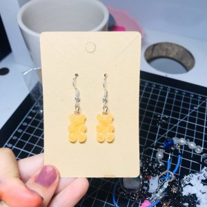 10 Days Silver Earrings white-gold orange