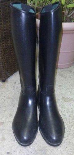 Gummy Wellington laarzen zwart