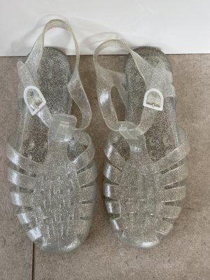 Sandalias de playa color plata Material sintético