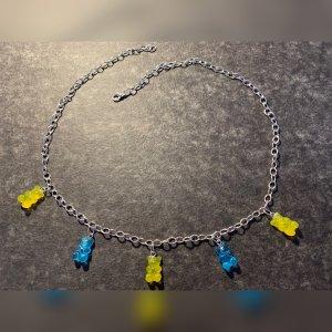 Chaîne à maillons jaune-bleu