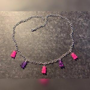 Chaîne à maillons violet-rose