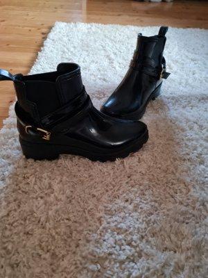 unbekannte Wciągane buty za kostkę czarny-złoto