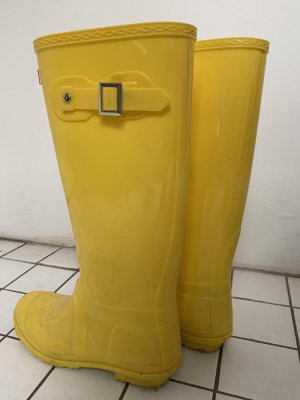 Stivale di gomma giallo