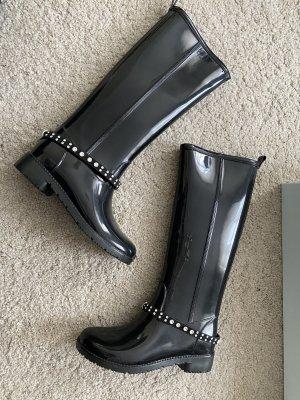D made in Italy Wellington laarzen zwart