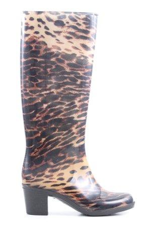 Wellington laarzen wolwit-zwart volledige print casual uitstraling