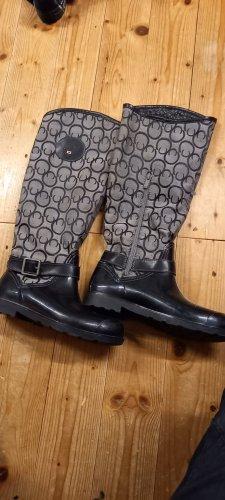 keine Ahnung Wellington laarzen zwart-grijs