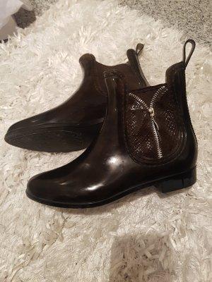 Wellington laarzen zwart-donkerbruin