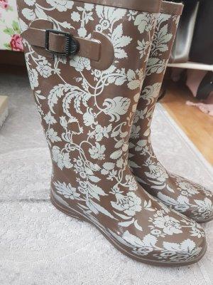 Deichmann Gumowe buty jasnoszary-jasnobrązowy