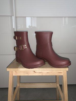 Colors of California Botte en caoutchouc bordeau-brun rouge