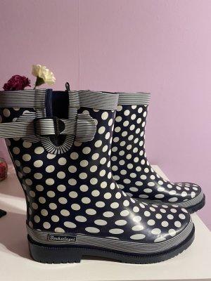 Bockstiegel Gumowe buty biały-ciemnoniebieski