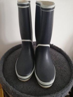 Wellington laarzen wit-donkerblauw