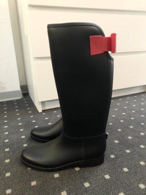 Reserved Gumowe buty czarny-czerwony