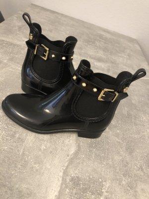 Lemon Jelly Wellington laarzen zwart-goud