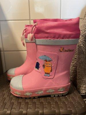 Playshoes Bottines à enfiler rose-bleu clair