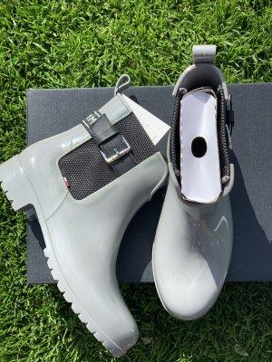 Tommy Hilfiger Wellington laarzen zwart-grijs