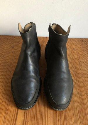 Acne Botas de tobillo negro Cuero