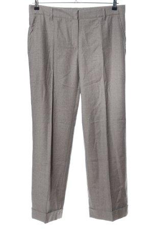 Gunex Woolen Trousers light grey weave pattern casual look