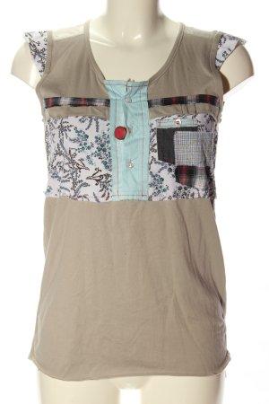Guru Sleeveless Blouse mixed pattern casual look