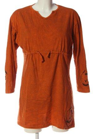 Guru Longsleeve light orange casual look
