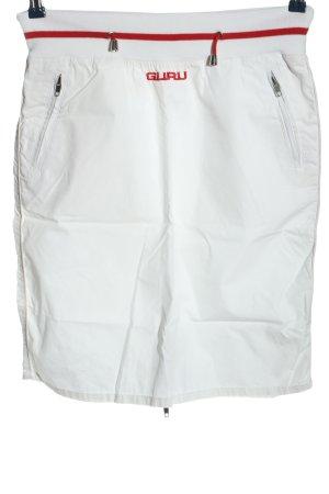 Guru Miniskirt white casual look