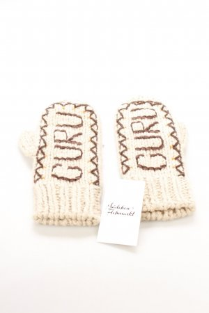 Guru Gebreide handschoenen geborduurde letters stedelijke stijl