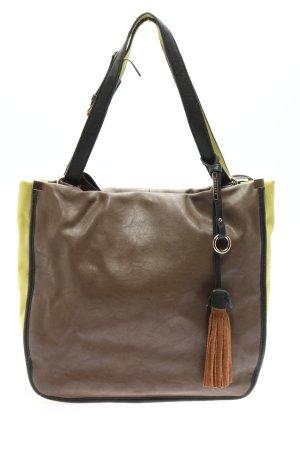 Gussaci Handtasche braun-grün Casual-Look